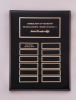 Black Piano-Finish Perpetual Plaque 12 Plate Perpetual Plaques