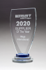 Chalice Series Glass Award Blue and Clear Glass Pedestal Base Academic Awards