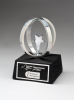Chrome plated star in Aluminum Unisphere on Black Base Academic Awards