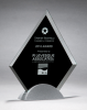Diamond Series Glass Award with Silver Metal Base Academic Awards