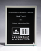 Glass Plaque with Black Center and Mirror Border Academic Awards