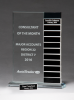 Jade Glass Award with 12 Individual Blocks Achievement Awards