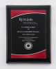 Black Piano Finish Plaque with Red Acrylic Plate Acrylic & Glass Plaques