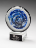 Blue and White Disc Art Glass Award Artistic Awards