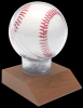 Allstar Baseball Holder on Cherry Finish Base Ball Holders