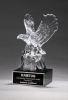 Crystal Eagle on Black Base Eagle Trophies Awards
