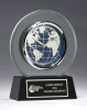 Glass Clock with World Dial Executive Gift Awards