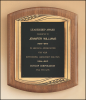 American Walnut Plaque with Antique Bronze Frame Executive Plaques