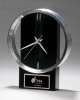 Black and Silver Modern Design Clock Gifts Personalized