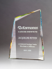 Pinnacle Series Freestanding Crystal Award with Prism-Effect Coating Optical Crystal