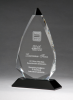Arrow Series Crystal Award with Black Accent Religious Awards