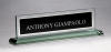 Glass Name Plate with Black Center Sales Awards