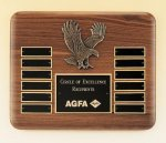 Eagle American Walnut Perpetual Plaque 12 Plate Perpetual Plaques