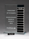 Jade Glass Award with 12 Individual Blocks 12 Plate Perpetual Plaques