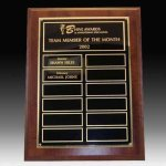 Perpetual Plaque with No Screw Nameplates 12 Plate Perpetual Plaques