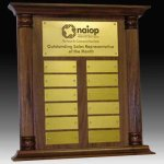 Perpetual Plaque or Trophy 12 Plate Perpetual Plaques