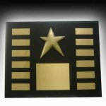Star Award Perpetual Plaque 12 Plate Perpetual Plaques