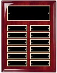Perpetual Plaque Board with Heavy Lacquer Finish 12 Plate Perpetual Plaques
