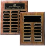 Solid Walnut High Gloss Perpetual Plaque 12 Plate Perpetual Plaques