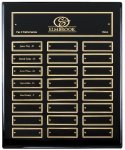 Ebony Finish Perpetual Plaque 12 Plate Perpetual Plaques