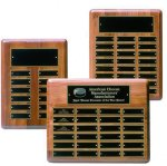Solid Walnut Perpetual Plaque 12 Plate Perpetual Plaques