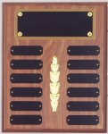 Perpetual Plaque Assembled with Black Plates 12 Plate Perpetual Plaques