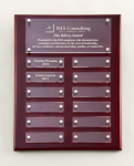 Rosewood High Gloss Perpetual Plaque 12 Plate Perpetual Plaques