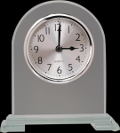 Arch Clear Glass Clock With Split Step Base Academic Awards