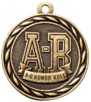 A-B Honor Roll  2 Round Sculptured Medal  Academic Awards