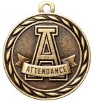 Attendance 2 Round Sculptured Medal    Academic Awards