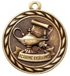 Academic Achievement 2 Round Sculptured Medal  Academic Awards