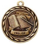 English 2 Round Sculptured Medal  Academic Awards