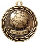 Social Studies  2 Round Sculptured Medal   Academic Awards