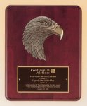 Antique Eagle Rosewood Piano Finish Plaque Academic Awards