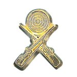 Crossed Rifle Chenille Pin Academic Awards
