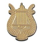Music Lyre Chenille Pin Academic Awards