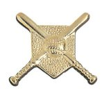 Crossed Bats Chenille Pin Academic Awards