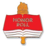 Honor Roll Lapel Pin Academic Awards