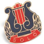Solo Lapel Pin Academic Awards