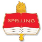 Spelling Lapel Pin Academic Awards