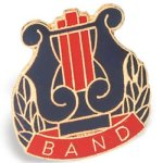 Band Chenille Pin Academic Awards