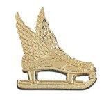 Winged Ice Skate Chenille Pin Academic Awards