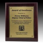 Rosewood Piano Finish Plaque Academic Awards
