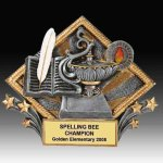 Lamp of Knowledge Diamond Resin Academic Trophies