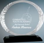 Oval Accent Glass Achievement Awards