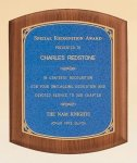 American Walnut Plaque with Linen Textured Plate Achievement Awards