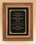 American Walnut Framed Plaque with Gold Trim Achievement Awards