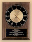 American Walnut Vertical Wall Clock Achievement Awards
