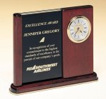 Versatile Clock Rosewood Piano Finish Desk Clock Achievement Awards