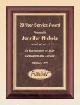 Cherry Finish Wood Plaque with Ruby Marble Plate Achievement Awards